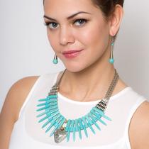 Collar Y Aretes Con Estuche Elegante - Gossip Collection