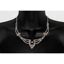 Conjunto Elegante, Collar, Aretes, Pulsera Y Anillo Ce92