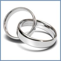 Argollas De Matrimonio Mod. Classic En Platino Solido