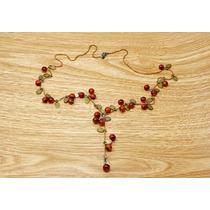Collar Vintage Rojo Cerezas