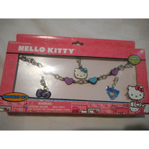 Set De Brazalete Pulsera Tres Dijes Hello Kitty!