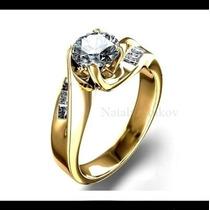 Anillo De Compromiso Con Diamante Natural .66ct En Oro 18k