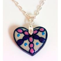 Collar Con Aretes - Corazón Luna Y Flor - Gossip Collection