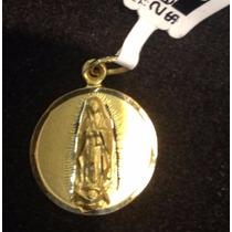 Medalla Virgen De Gpe Oro 18 K