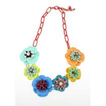 Collar Flores Boho Mayoreo 2015 Colores Bisutería