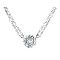 Diamante Colgante Collar 1/7 Carat (ctw) Con La Cadena Doble