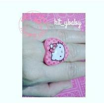Hello Kitty, 2 Anillos Ajustables, Corazón Regalo Amor Mamá