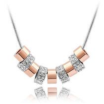 Dije 9 Aros Cristal Corte Swarovski Elements