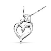 En Forma De Corazón Madres Collar Colgante Amor Con Diamant