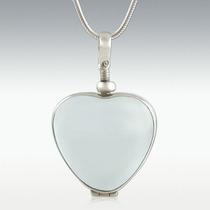 Corazón De Plata Dije Cristal Relicario Guardapelo Ley.925