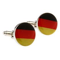 Mancuernillas Bandera Alemania Circular Acero Camisa Traje