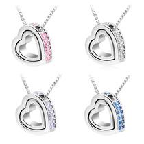 Regalo San Valentin Collar Corazón Swarovski Element Colores