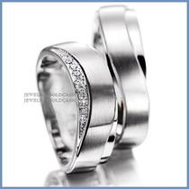 Argollas De Matrimonio Mod. Zeus En Platino Con Diamantes
