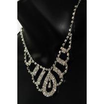Conjunto Elegante, Collar, Aretes, Pulsera Y Anillo Ce113