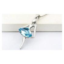 Hermoso Collar Y Dije Bailarina Azul