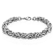 Brazalete Bling Jewelry Cadena Bizantina Lazo Torcido Acero