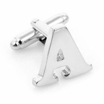 Mancuernillas Abc Plata Diamante .925 Personalizadas Pareja!