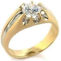 Hermoso Anillo De Caballero Oro 14k Diamante 1ct Envíogratis