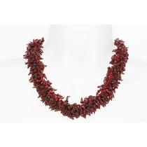 Collar Corto De Cuarzo Rojo Ccpn50