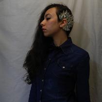 Arete Ear Cuff De Metal Forma De Hojas