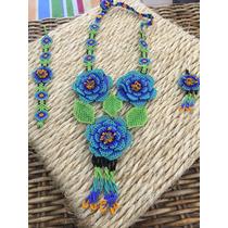Collar De Chaquira Huichol Artesanía Huichol