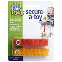 Bebé Compinche Secure-a-toy, Naranja / Oro