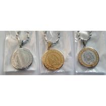 Medalla Virgen De Guadalupe Porfis Virgencita Acero C/cadena