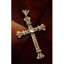 Diseño Único, Cruz En Oro Blanco Y Diamantes