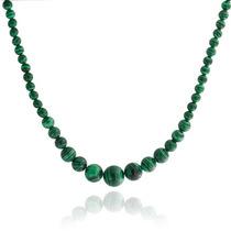 Bling Jewelry Graduado Malaquita Turquesa Collar 16in