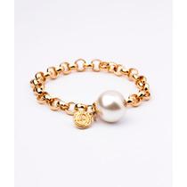 Pulsera Van Grieken Perla Colgante. Baño De Oro 18k