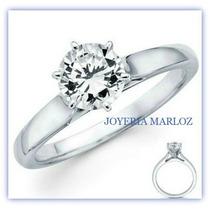 Anillos De Compromiso Solitario .50ct Diamante Natural 14kt