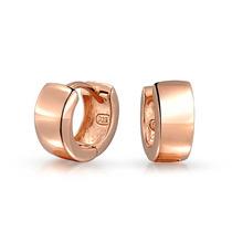 Aretes Bling Jewelry Rosa Salvaje Enchapado Oro Plata