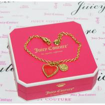 Remtae Mca.juicy Couture Pulsera Con Dije Corazón