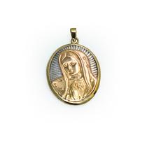 Medalla De La Virgen De Guadalupe De Plata Y Oro