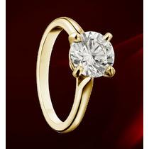 Anillo Con Diamante Cultivado De .75 Ct. En Oro De 18k.