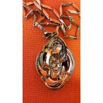 Collar De Calavera Y Serpiente Con Cadena Acero Inoxidable