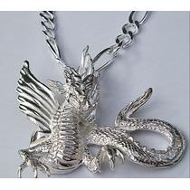 Dije De Gran Dragon En Plata Fina Sterling Silver.925