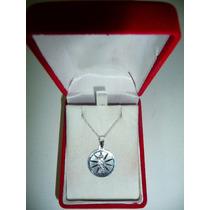 Dije Medalla San Judas Con Cadena Plata Ley .925