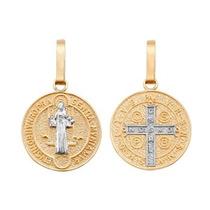 Medalla De San Benito Oro 10k