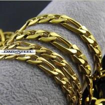 Hermosa Cadena Gargantilla En Color Oro 60 Cm
