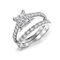 Bling Jewelry Corte Princesa Cz Nupcial Del Sistema Del Anil