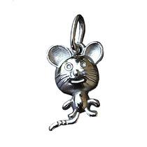 Dije De Raton En Plata Fina Ley.925 Sterling Silver