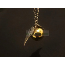 Collar Snitch Dorada Harry Potter. Manejamos Mayoreo