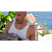 Cruz Toretto Dominic Collar D Rapido Y Furioso Acero Oro Bla