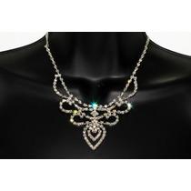 Conjunto Elegante, Collar, Aretes, Pulsera Y Anillo Ce112