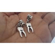 Muela 2 Preciosos Dijes De Plata Tibetana Dentista 0370