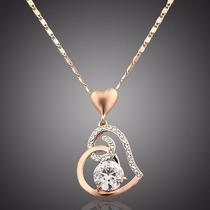 Collar Dije Corazón Swarovski,regalo,mujer,medalla,sharovski