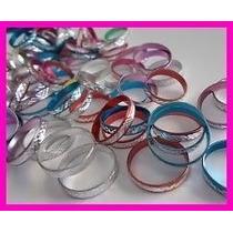Paquete Con 100 Anillos De Aluminio Varias Medidas Y Colores