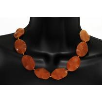 Collar Corto Agata Naranja Ccpn57