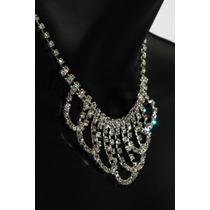 Conjunto Elegante, Collar, Aretes, Pulsera Y Anillo Ce128